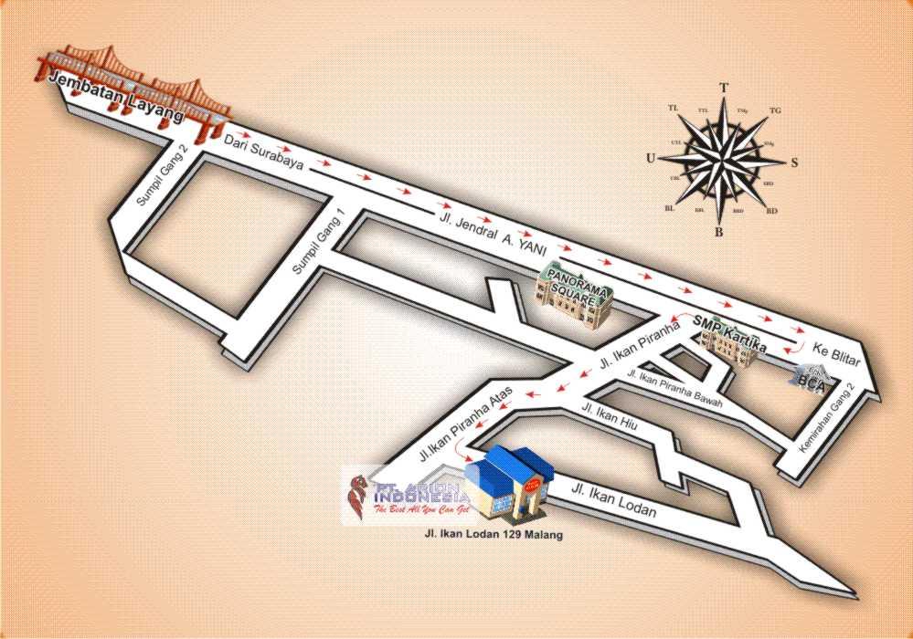 Peta Lokasi Kantor Arion Grup Di Jalan Ikan Lodan No 129 Blimbing Malang